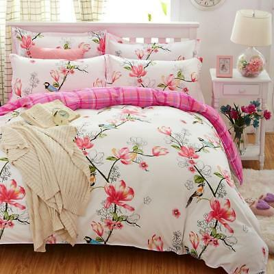 Bedding Set Flower Printed Bed Linens 4pcs/5pcs Sets Queen Size Duvet Covers New