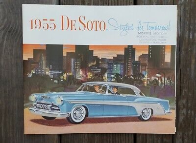 1955 DeSoto Car Sales Brochure Catalog Fireflight Firedome