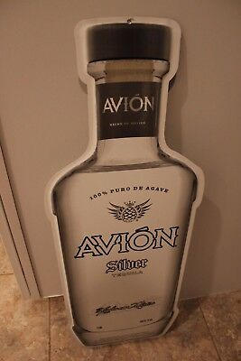 Avion Silver Tequila Metal Tin Collectible Bar Pub Man Cave Sign New Fast Shpg!