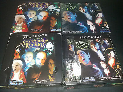 A Touch of Evil + Something Wicked Exp. Brettspiel Boardgame engl