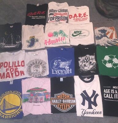 Lot Of 18 T Shirts Mixed Vtg New Assorted Size Color D.A.R.E., NIKE, GS Warriors
