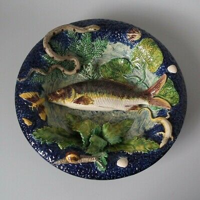Barbizet Majolica Palissy Fish, Reptile & Insect Plate