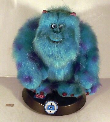 """10"""" Roaring Animated Sulley Room Guard Soft Toy - Monsters Inc Movie"""