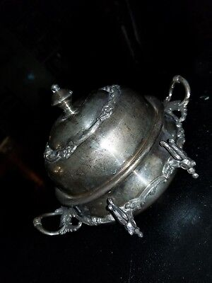 butter dish with lid sterling silver