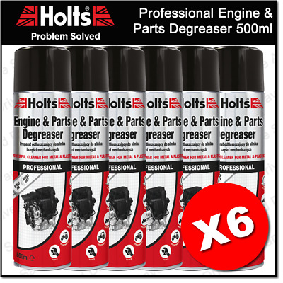 6 x Holts Professional Engine & Parts Degreaser Spray On Rinse Off HMTN0701A