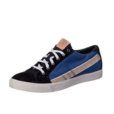 RRP €140 DIESEL Size 43 UK 9 Men's D-STRING LOW Genuine Leather Lace-Up Sneakers