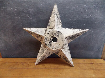 Antique cast iron architectural star masonry wall anchor building tie washer