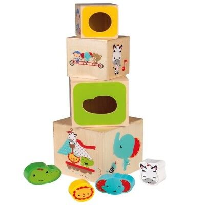 Happy Peopel 41219 Fisher Price Holz Stapelbecher 45cm Kinder Motorik Spielzeug