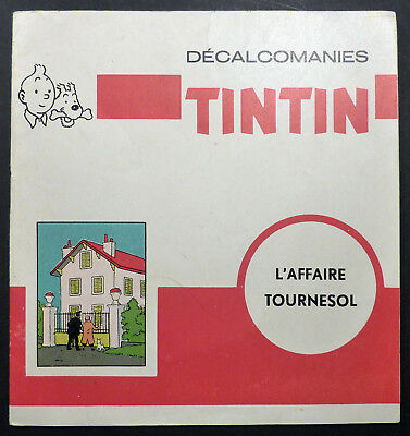 Tintin Décalcomanies L'Affaire Tournesol Ed. Française TBE