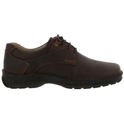 Hush Puppies Geography Mens Brown Lace Up Wide Fit Leather Shoes Size UK 6-14