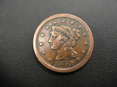 1853 US Braided Hair Large Cent