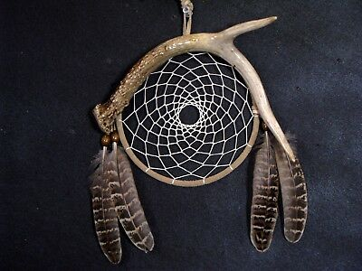 REAL ANTLER DREAM CATCHER Cowboy decor Southwestern Art Native American Style