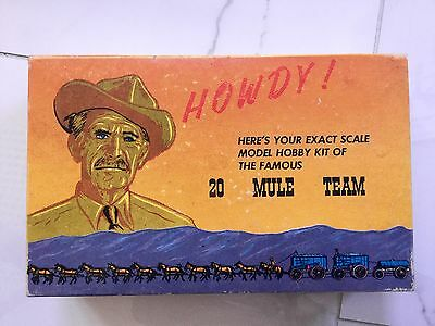 Vintage Borox Model Of 20 Mule Team Promotional Mail Order 1960's # 034 Open Box