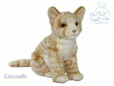 Hansa Sitting Ginger Tabby Cat 7226 Soft Toy Sold by Lincrafts Established 1993