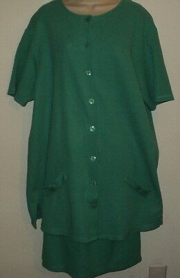 A Pea in the Pod Lou Nardi Maternity Medium M Skirt Suit Teal Green 100% Cotton