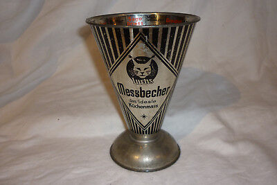 alter Luchs Messbecher, Metall,
