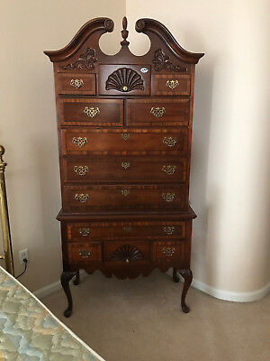Stanley Stoneleigh Mahogany Chippendale Highboy & End Tables