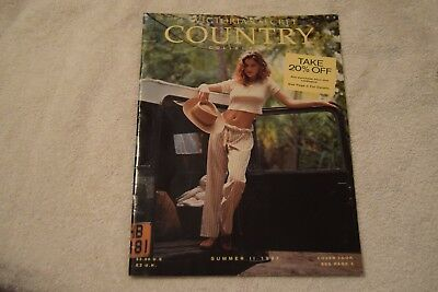 Victoria's Secret Catalog Country Collection Summer 1997. Letitia Casta.