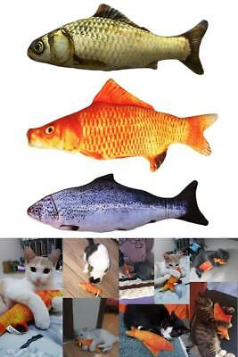 3 Pack Realistic Interactive Fish Cat Kicker Funny Crazy Toy Catnip Pet Toys Gif