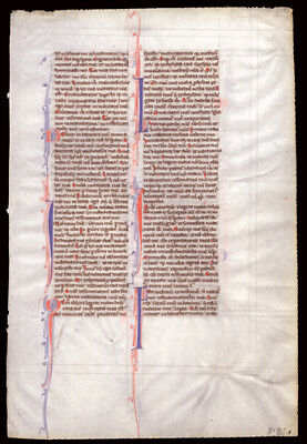 13th Century Medieval Bible Leaf Old Testament Book of Psalms 119 -120 Vellum
