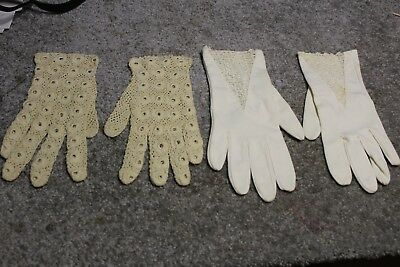 Womens Dress Gloves, Lot of 2, Hansen  Size 7 1/2 and Lace no label