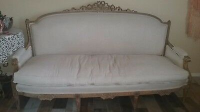 Antique French Louis XV Ornate Sofa Settee Couch