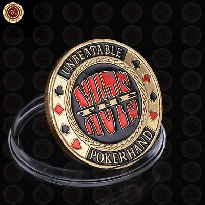 Wholesale/Retail 1 OZ The Nuts Casino Souvenir Coins Unbeatable Poker Hand Lucky