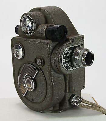 Revere Eight Model 88 Vintage 8mm Movie Camera with 13mm f/2.8 Lens, Case WORKS