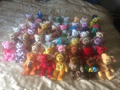Ty Beanie Baby Babies HUGE LOT 40 NO EAR TAGS rare retired Excellent