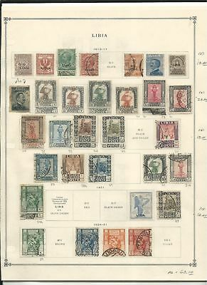 Libya Collection 1912-1964 on 12 Scott International Pages