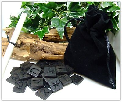 Wooden Anglo Saxon Futhorc Runes handcrafted from 5000 year old Irish Bog Oak