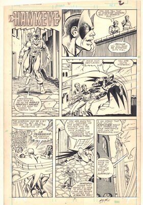 Solo Avengers #6 p.2 - Hawkeye Title - 1988 art by Mark Bright