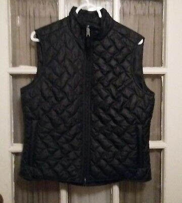 ROYAL ROBBINS Womens Black Packable Quilted Vest Front Zipper Size Large Hiking