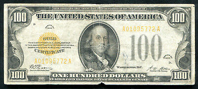 Fr. 2405 1928 $100 One Hundred Dollars Gold Certificate Currency Note