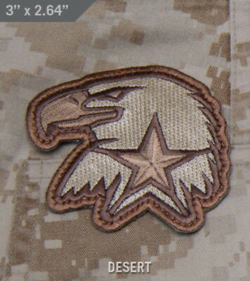 Eagle Patch with Hook Material On Back for Attachment - Desert