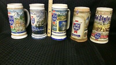 Old Style Beer Steins 1985 to 1989