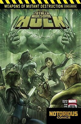 Totally Awesome Hulk #22 Weapons of Mutant Destruction Part 4 Marvel 1st Print
