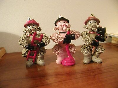 Three Spaghetti Poodle Firemen, They Look Great