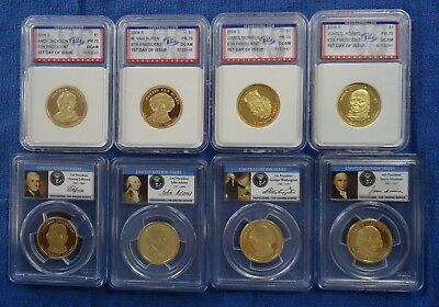 Lot of 8 Presidential Dollars 2 - 4 Coin Proof Sets PCGS & IGS
