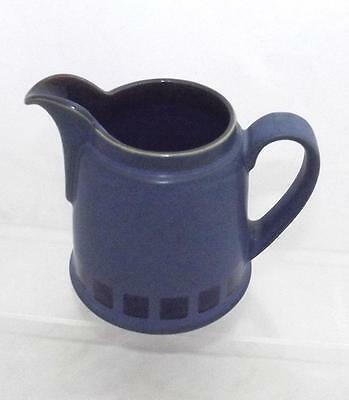 Denby Pottery Reflex Pattern Milk Jug Glazed in Blue made in Stoneware