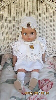 "Antique 1940's Composition '' A Horsman Doll ''  21"" good condition"