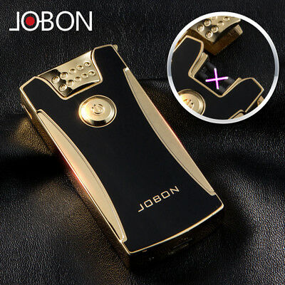 Black Gold Electric Rechargeable Lighter Arc Windproof Flameless Plasma Torch
