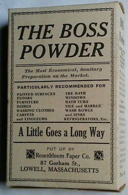 "Vintage Antique ""The Boss Powder"" Lowell, Mass. Unused Soap Box - NOS !!"