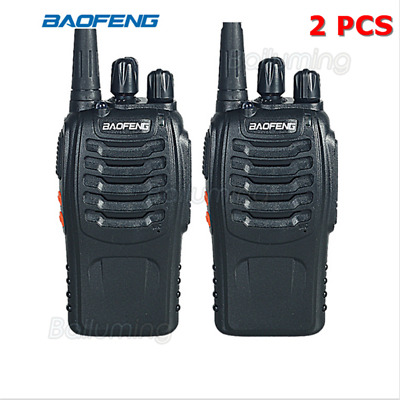 Baofeng BF-888S Walkie Talkie UHF 400-470MHZ  16CH 5W  Long Range +Earpieces 2pc
