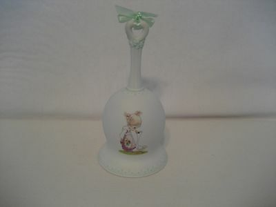 Precious Moments-2001-Bisque Bell with Green Tinge-Make A Joyful Noise