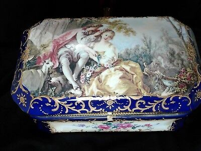 Large Porcelain Jewelry Casket Special Free Shipping Today Only!!