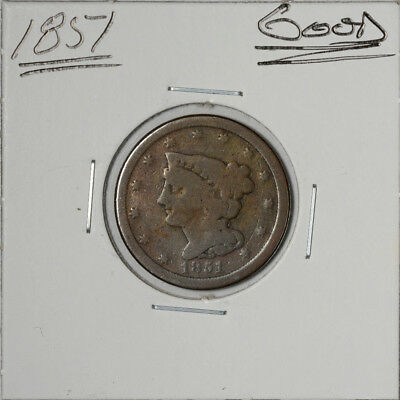 1851 Large Half-Cent Half-Penny 1/2-c  Good