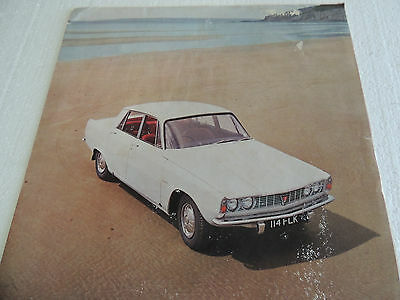 1965 Rover 2000 Sedan Sales Brochure Catalogue & price sheet