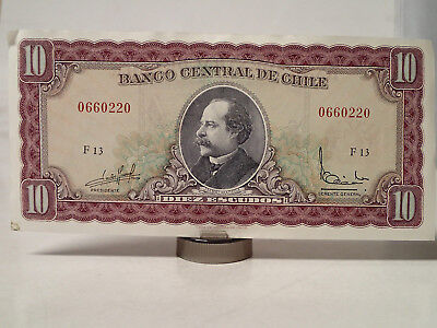 Chile - 10 Escudo Bill, Banknote, Currency, Paper Money