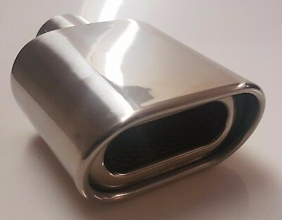 Steel Sports Exhaust Trim Tip Muffler Chrome Tail Car Van 58Mm Universal Ex16